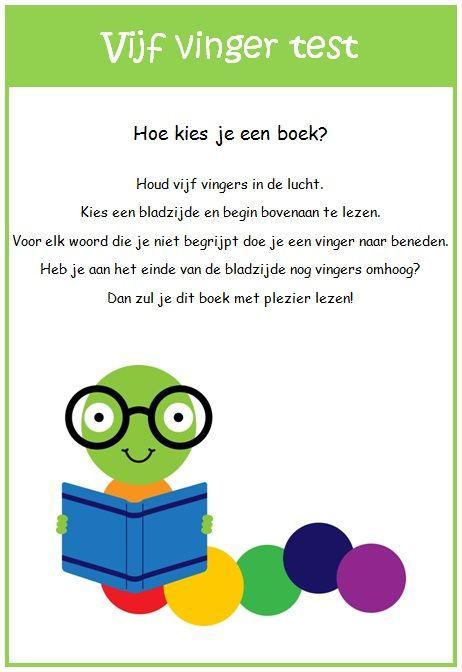Handig hulpmiddel voor leerlingen bij het kiezen van een boek.