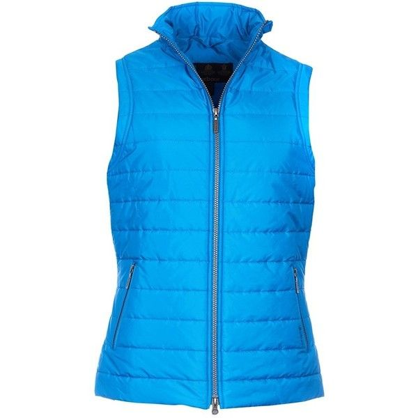 Women's Barbour Current Quilted Gilet - Beachcomber Blue ($125) ❤ liked on Polyvore featuring outerwear, vests, blue quilted vest, quilted gilet, barbour gilet, blue vest and blue waistcoat