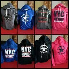 HOODIES CONVERSE ALL STAR. NYC HIPHOP SIZE M RM48