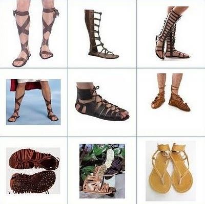 En la Antigua Roma se utilizaban distintos tipos de sandalia dependiendo la utilidad.
