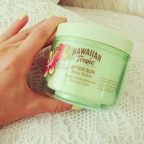 Hawaiian Tropic After Sun Body Butter - this stuff works! love it, and it smells awesome