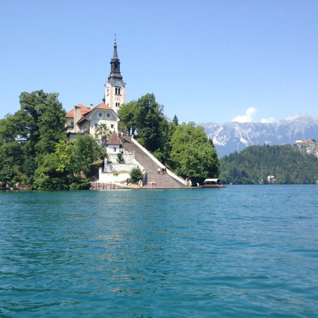 Church on the Island in Slovenia
