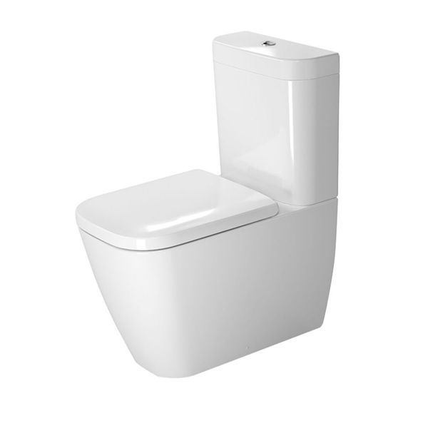 Designed by Sieger Design, this Happy D.2 close-coupled pan is particularly well-suited to a contemporary bathroom and can be matched with a Happy D.2 bidet for a uniform look. It has a 4.5 litre flush, a dual flush mechanism, and includes an outlet for a Vario connector set, for a horizontal or vertical outlet. Fixings are included. Cistern and seat sold separately. The updated Happy D.2 is just as style-conscious, versatile and timelessly modern as its predecessor. Bringing a fresh…