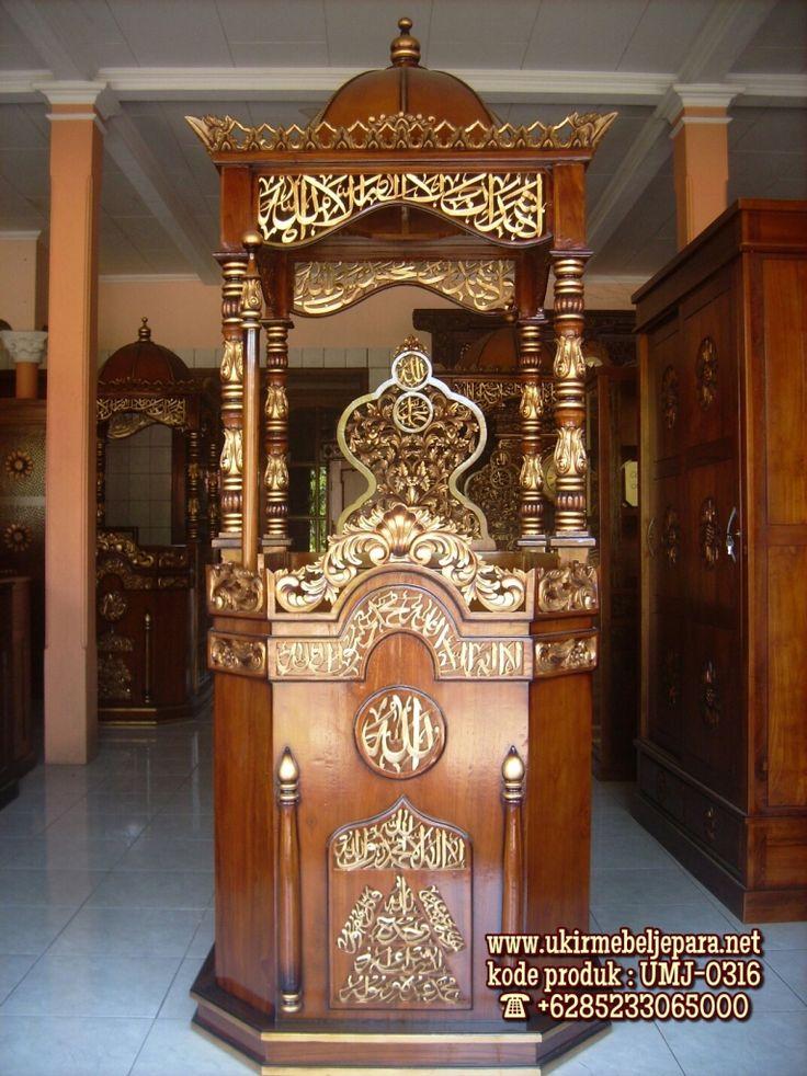 Mimbar Masjid Ukiran Jepara Umj 0316