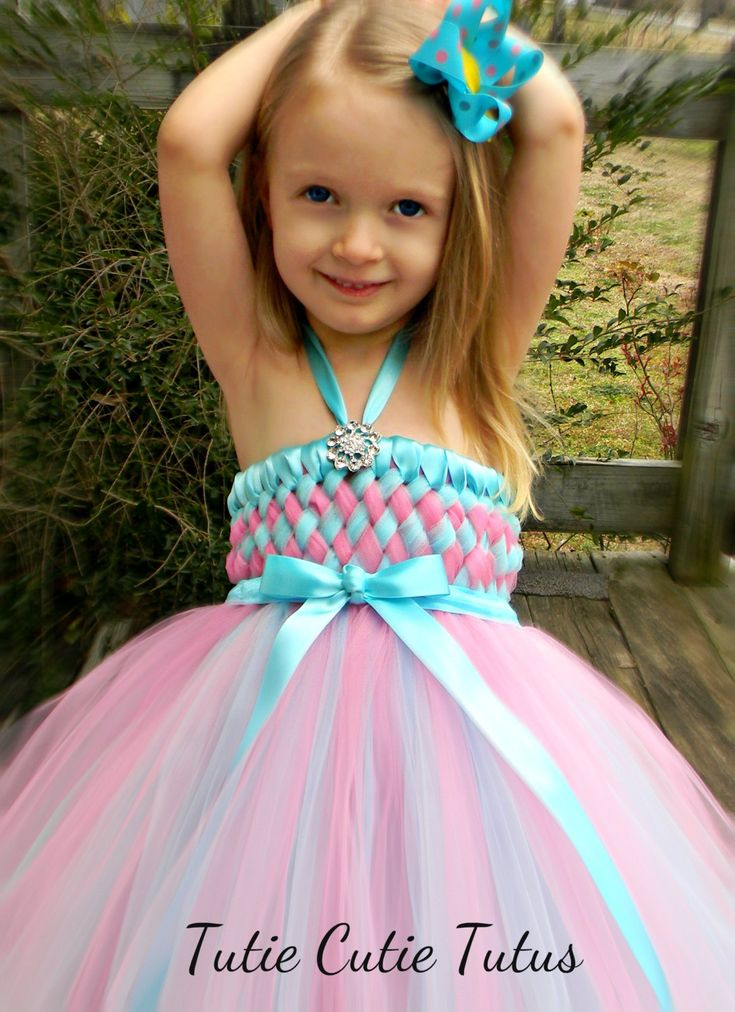 Flower Girl Woven Tutu Dress in Robin Egg Blue by TutieCutieTutus, $85.00