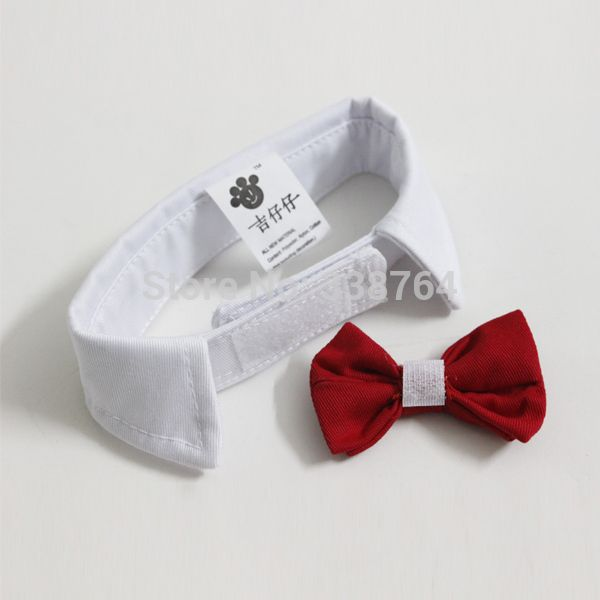 Hot Wholesale Pet Supplies Red Colors Cats Dog Tie Wedding Accessories Dogs Bowtie Collar Holiday Decoration Christmas Grooming