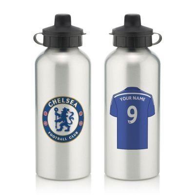 Personalised Chelsea Aluminium Water Bottle (600ml) #CFC #Chelsea #FootballGifts £12.99