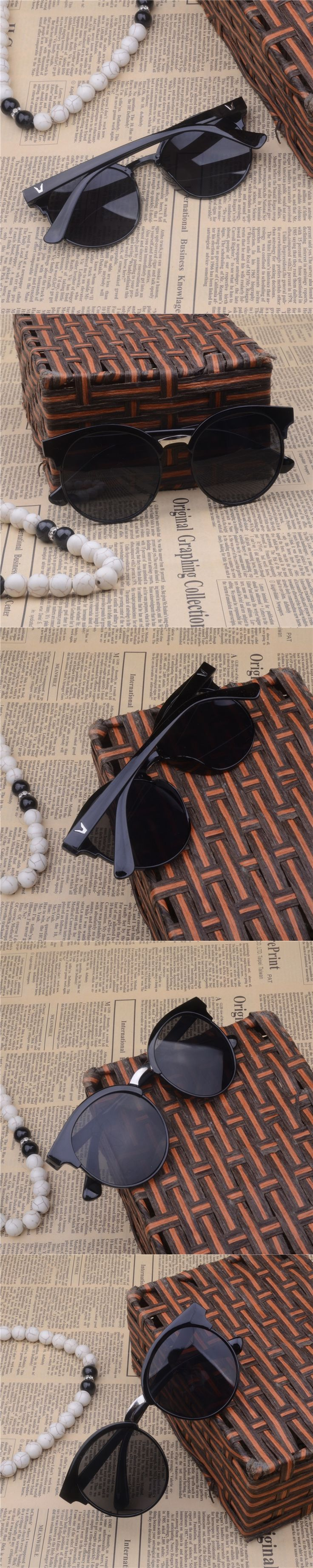 2016 free shipping New Vintage Summer Sunglasses Sun Glasses UV Protection Sunglasses Men Women Eyewear a147