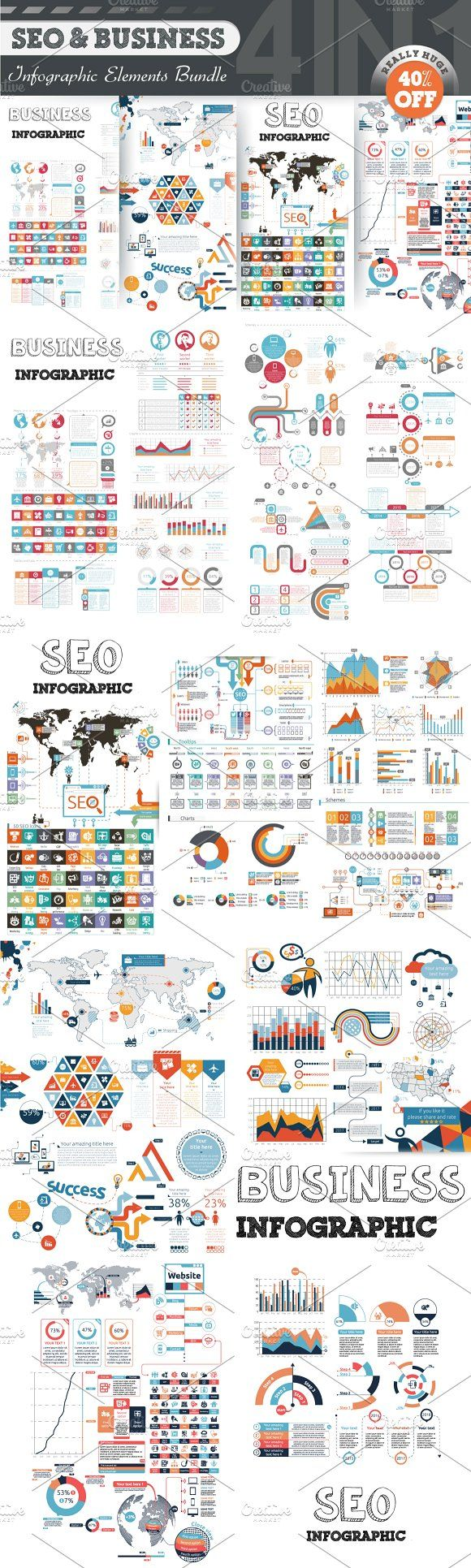 @newkoko2020 40% OFF Infographic Bundle by Infographic Paradise on @creativemarket #infographic #infographics #bundle #download #design #template #set #presentation #vector #buy #graph #discount
