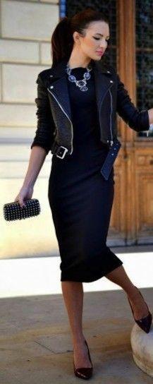 Vestido de tubo negro: fotos de los modelos