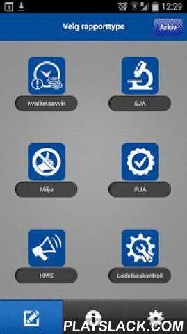 Ruta HSEQ  Android App - playslack.com , Dette er Ruta Entreprenørs app til bruk ved innrapportering av HMS-hendelser og kvalitetsrelaterte saker. Appen inneholder systematikk for å sende melding om kvalitetsavvik, HMS-hendelser, sikker-jobb analyse, rett-jobb analyse og ledelseskontroller.Appen er strippet for alle unødvendige funksjoner og knapper for å gjøre den mest mulig brukervennlig. Likevel er det et komplett rapporteringsverktøy som oppfyller alle våre krav og behov, og vi anser…