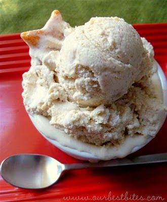 Apple Pie Ice Cream - Our Best Bites...delicious but I'd use 1/2 tsp cinnamon in place of 1 tsp