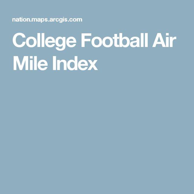 College Football Air Mile Index