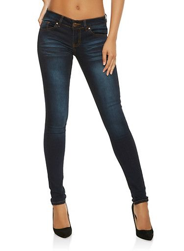 641dc22a1e VIP Whisker Wash Push Up Skinny Jeans