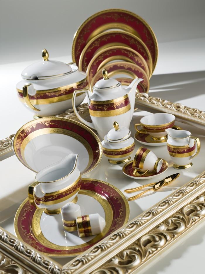 ZEPTER Masterpiece Collection Porcelain - Royal Gold Bordeaux