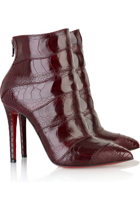 Christian Louboutin Zermadame 120 ankle boots - Dark Red