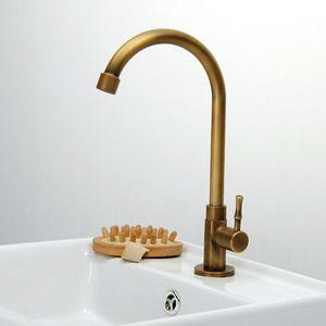 cheap antique brass tall rotatable bathroom sink faucet usd