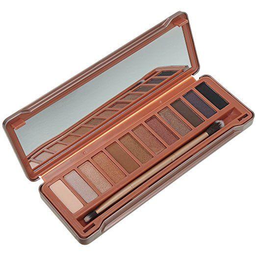 Haibei 12 Colori Terra Ombretto Cosmetica Make Up Tavolozza e Pennelli Specchio Set