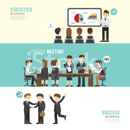 Business design conference concept people set presentation royalty-free stock vector art