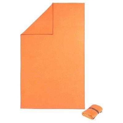 Narancssárga, mikroszálas törülköző, extra kis helyigényű, L: 80 x 130 cm Éduának hímezve