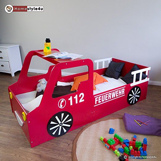 Feuerwehr Kinderbett zum Träumen tolles Abenteuerbett fürs Kinderzimmer