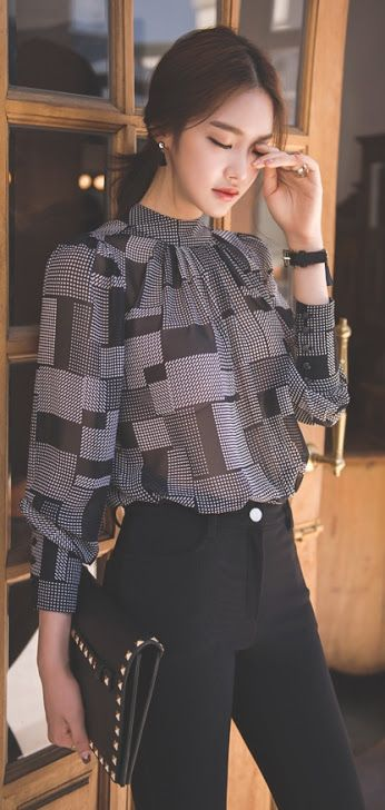 LUXE ASIAN FASHION - BLOUSE/TEE/SHIRT - Luxe Asian Women Design Korean Model…