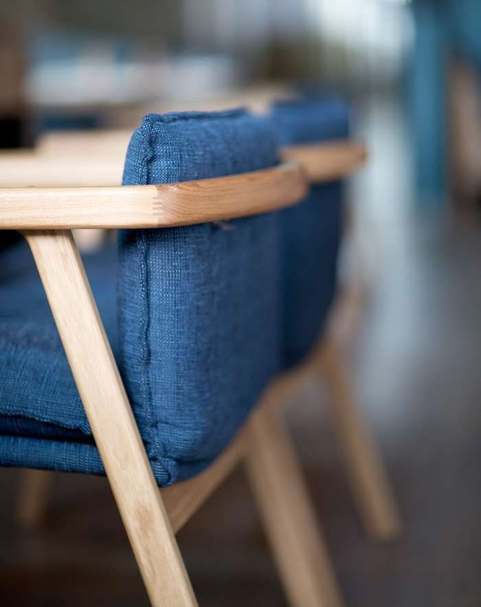 Pick Up Sticks was born out of the need for a comfortable armchair whose upholstered component is produced separately and at a short lead-time. Ideal for commercial or residential use, Pick Up Sticks celebrates a solid oak frame, which exhibits refined profile details throughout.
