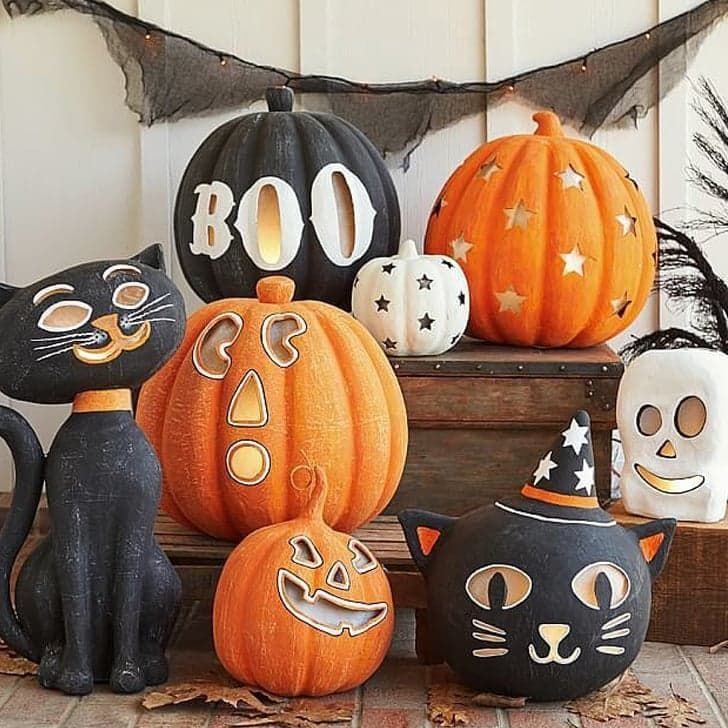 pin for later more smiles than scares 17 cute halloween decorations for kids halloween luminaries
