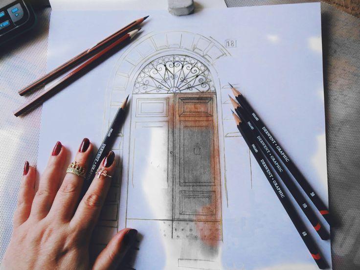 Gül ipek /Porta İtaliana #italy#doorsofitaly#old#drawing#pencil#graphic#derwent#art#artis#art_spotlight#desing#door#kapı#gulipeksanat#çizim#italia#porta#legno#disegno#arte#mano#accessories#fashion#rings#beautiful#texture#interiordesign#doorsandwindows_greatshots#beautiful#fabriano#illustration