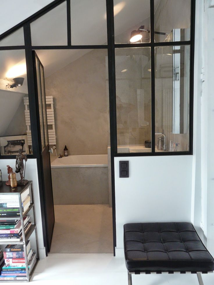 empreinte int rieure s paration fa on atelier pour une salle de bain homes pinterest atelier. Black Bedroom Furniture Sets. Home Design Ideas