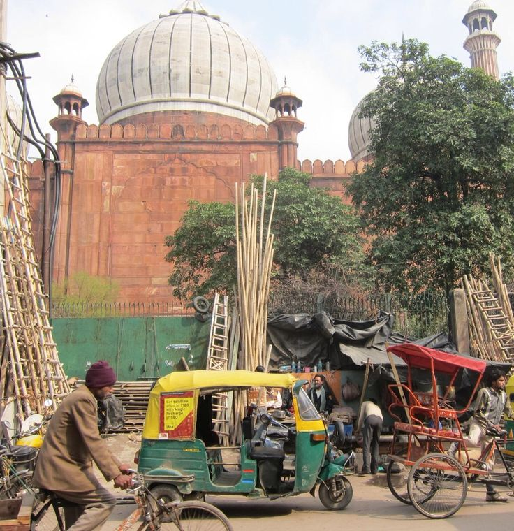 Streets of Old Delhi, around the Jumaa Masjid mosque.