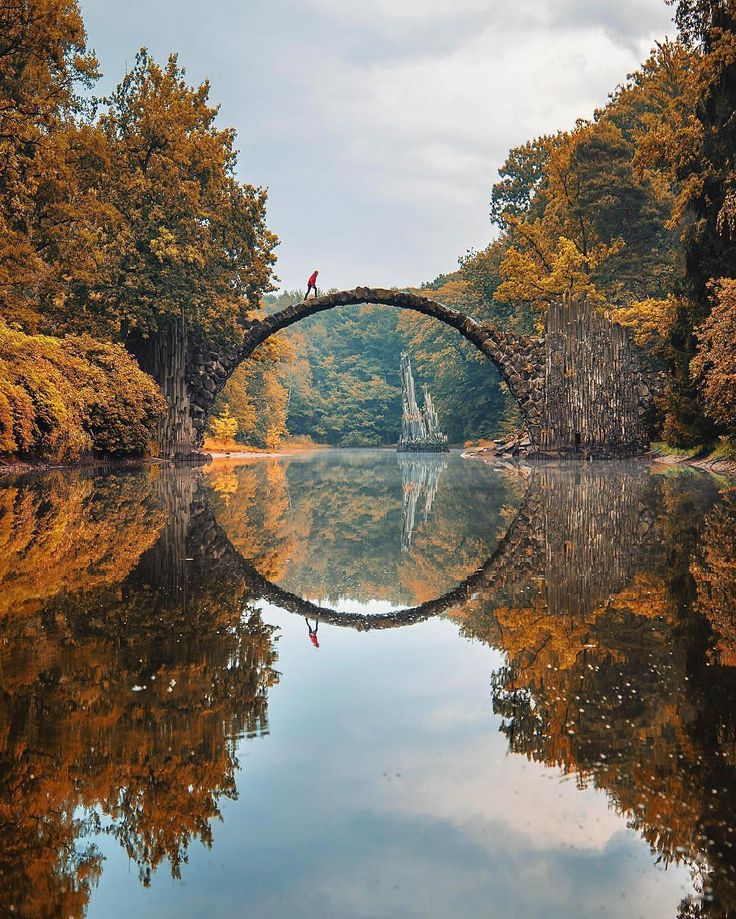 Face the Devil's Eye and smile. Near the Polish border you can find this ancient bridge (Kromlau). By @beautifuldestinations  Discover the most hidden places on our travel map!