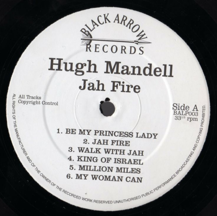 Hugh Mundell - Jah Fire (Label)