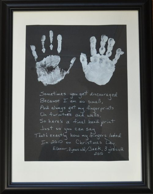Hand Print Poem.....could swap out Christmas Day for Mother's Day!