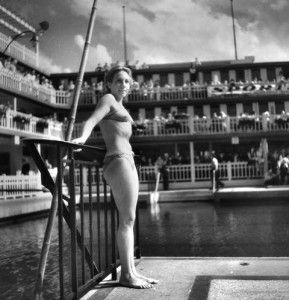 """The bikini was invented and launched almost simultaneously by two French fashion designers: Jacques Heim and Louis Reard. Heim was a swimsuit designer who had created a two-piece suit to be sold in his beach shop in Cannes. He marketed the swimsuit as the """"Atome,"""""""