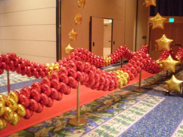 Oscar Party - walk the red carpet balloons