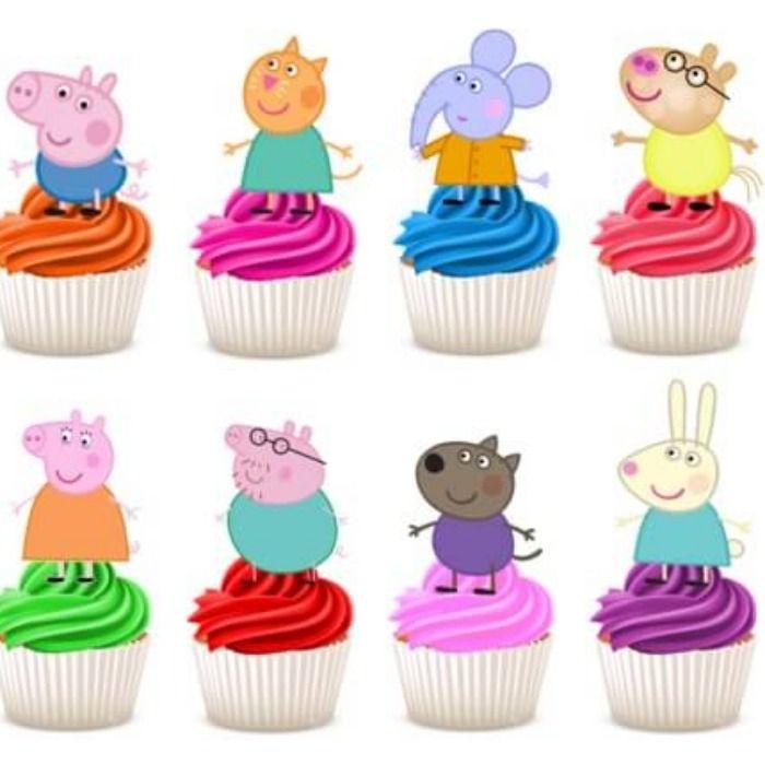 Gurli Gris fødselsdag - Gurli Gris kage pynt og cupcake pynt   Gris kage,  Gurli gris, Cupcake