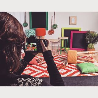 Behind the scenes on our Homewares shot.