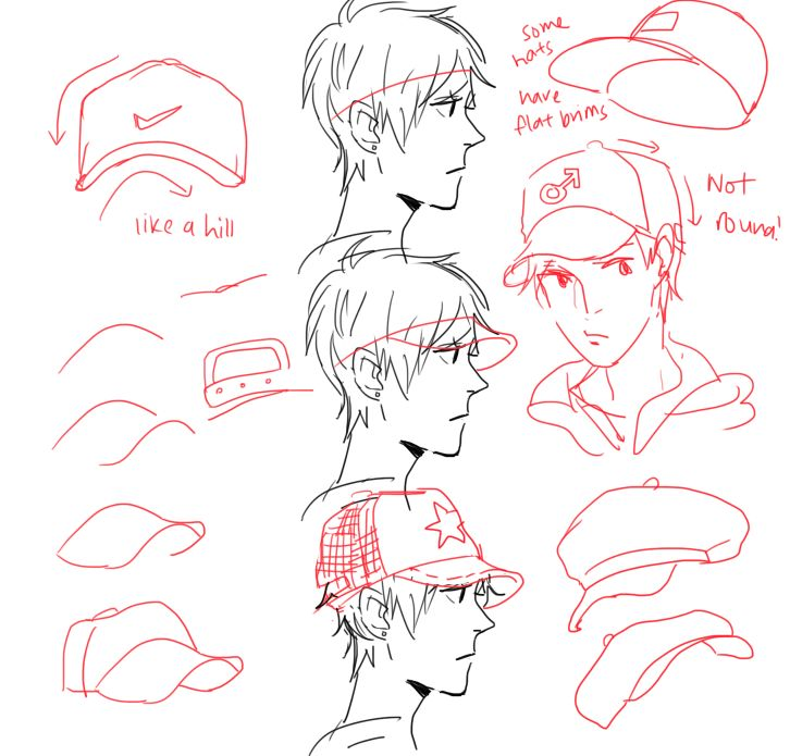 Character Design Tutorial Manga : Step by tutorial on how to draw a baseball cap for