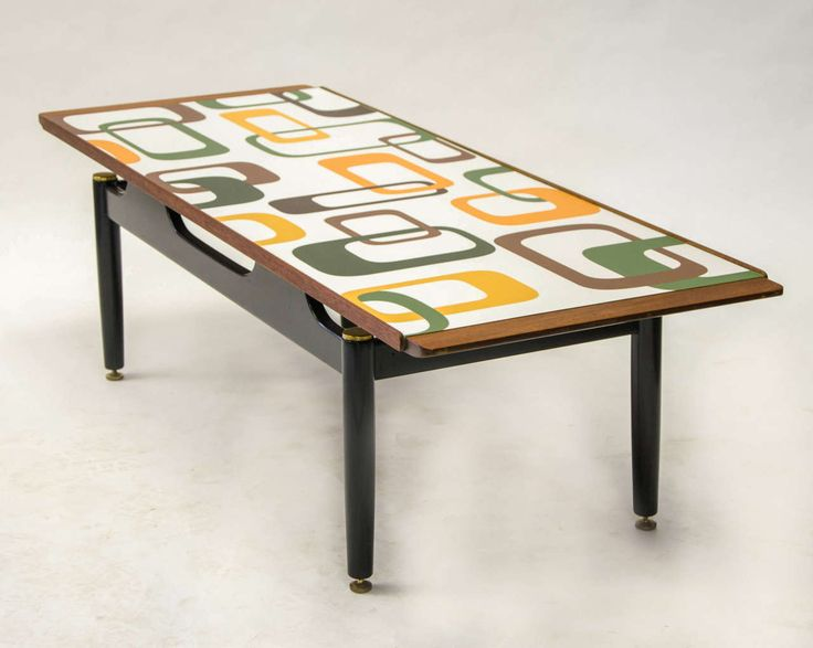 A G Plan Coffee Table With Graphic Laminate Top. Re Ebonized By Reload