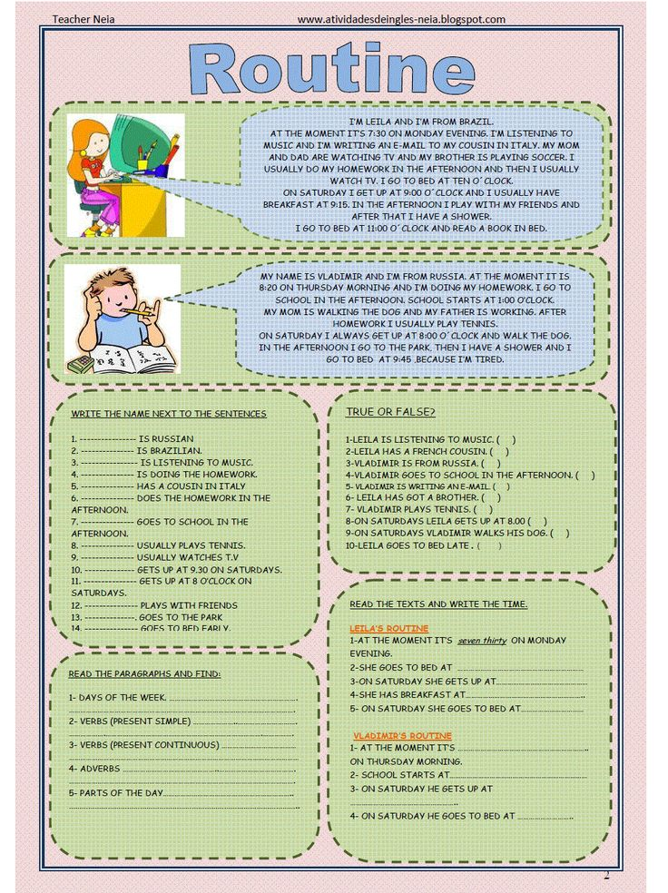 Printable present simple exercises