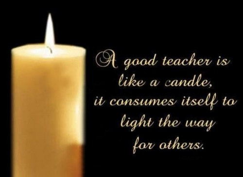 Teacher is like a candle essay examples