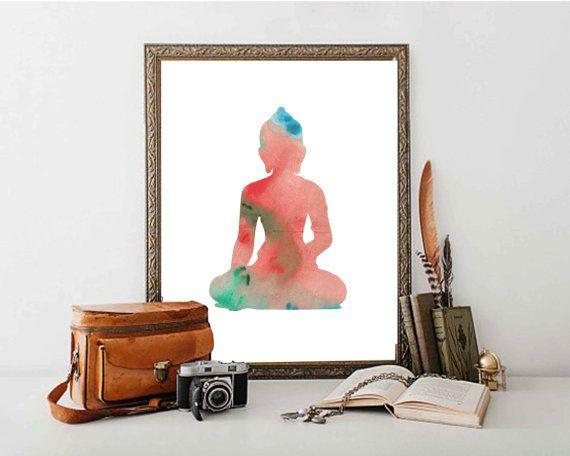 Buddha Poster Print // Meditation Buddha Wall Art //  by DaniJArts
