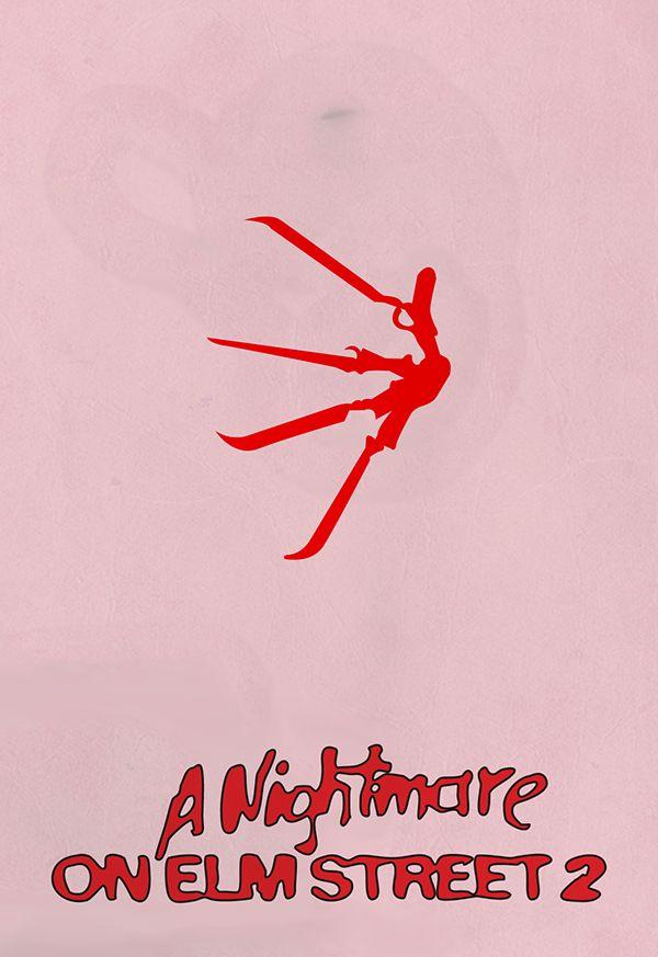 A Nightmare on Elm Street 2: Freddy's Revenge (1985) ~ Minimal Movie Poster by Jacopo Spina #amusementphile