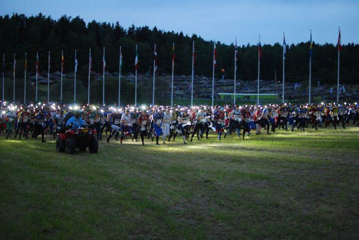 The Jukola start. Photo: Valio-Jukola 2012, Mikael Ahlfors