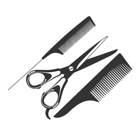Comb Scissors Barber Tools Icon Barber Tools Barber Scissors Illustration
