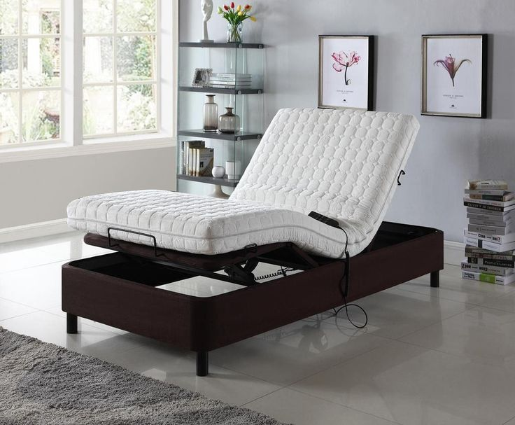 Homelife 174 Dark Brown Electric Adjustable Platform Bed In