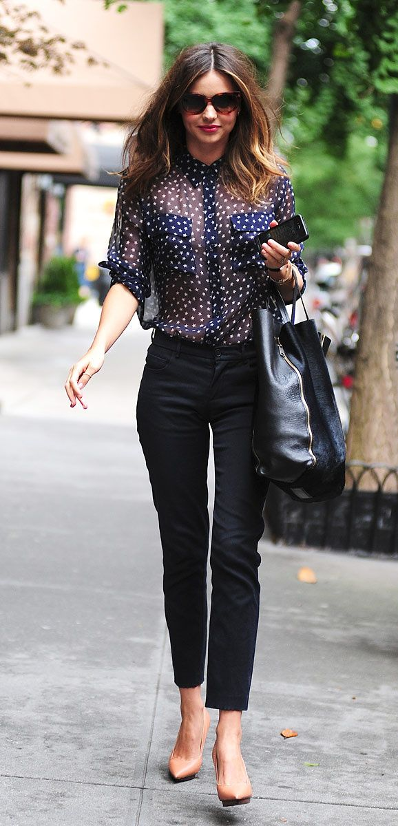 Another perfect outfit for those daytime shopping trips. Miranda Kerr.
