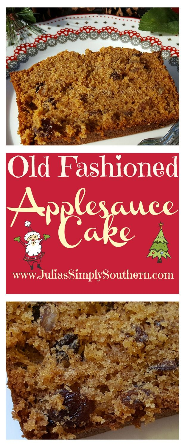 Old Fashioned Applesauce Cake, Bread, Baking, easy, best, bundt, delicious, traditions, Christmas, Recipes, Holidays, Southern Cooking,  Dessert #christmas #baking #recipes