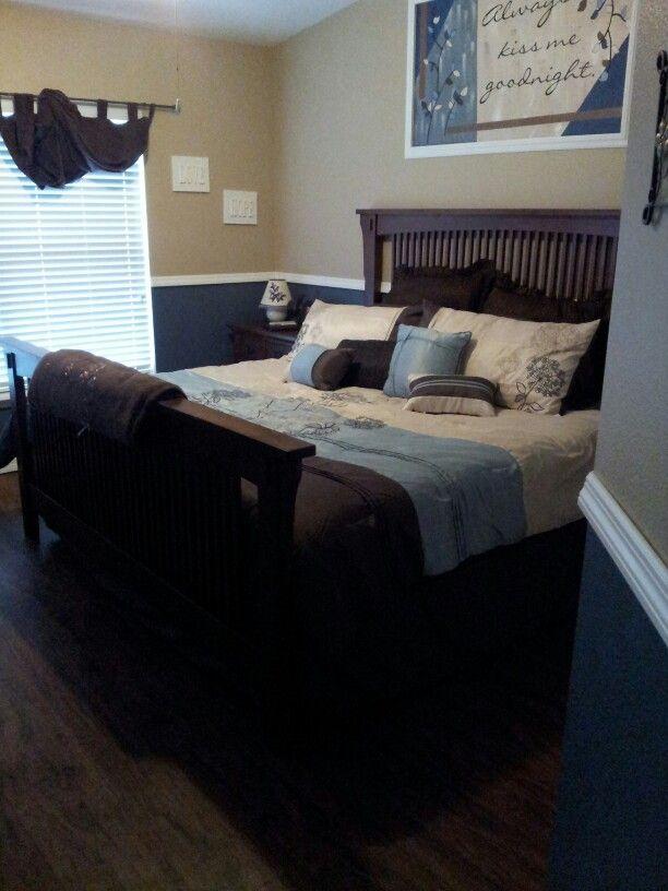 Brown and blue bedroom | My Bedroom